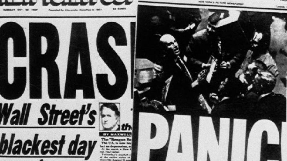 Panik mitten im Krach: Der Kurssturz 1987 dominierte die Schlagzeilen
