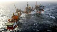 Ölförderplattformen von BP in der norwegischen Nordsee