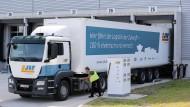 Volkswagen hat gerade in Sachsen einen Elektro-Lastwagen gezeigt.