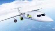 Erstflug in drei Jahren geplant: Airbus E-Fan X mit Elektromotor
