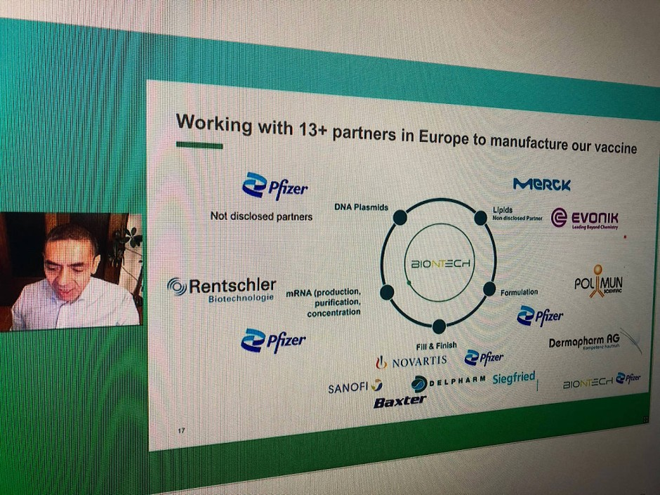 Ein Netzwerk durch die ganze Welt: Biontechs Partner für die Impfstoffproduktion.