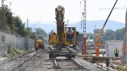 Rheintalstrecke schon am 2. Oktober wieder frei