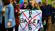 Proteste gegen Bayer in Bonn