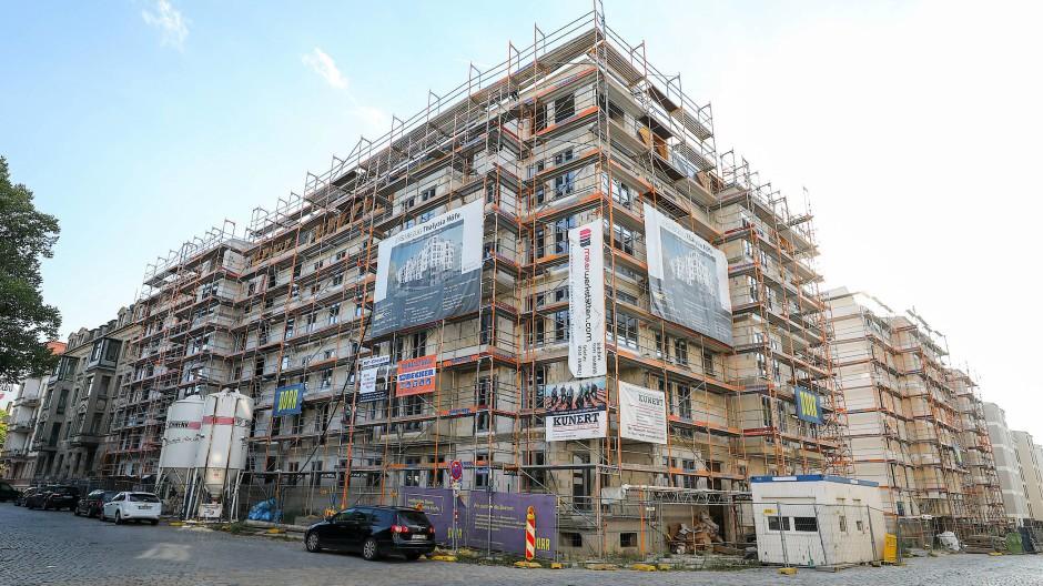 """Der Neubau der """"Thalysia-Höfe"""" in Leipzig ist eines der größten Wohnungsbauprojekte der Stadt."""