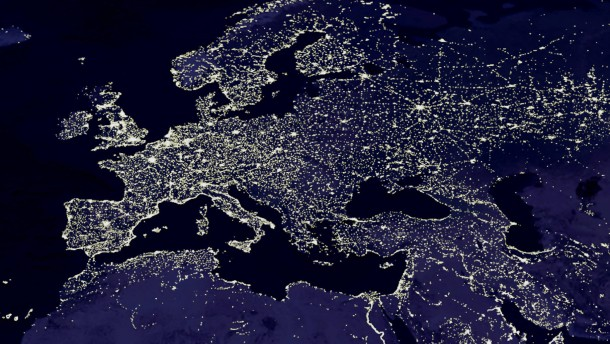 Europe at Night.