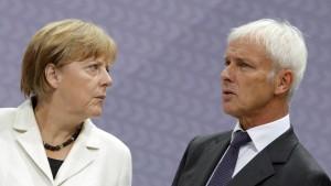 VW-Chef begleitet Angela Merkel nach China