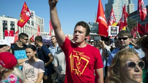 Tausende Russen demonstrieren gegen Putins Rentenreform
