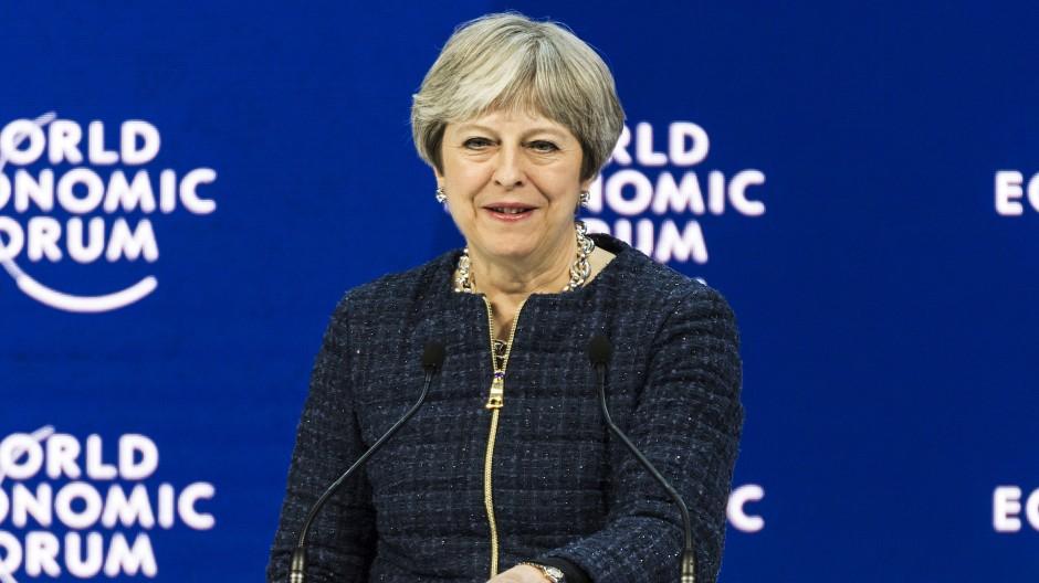 Theresa May in Davos