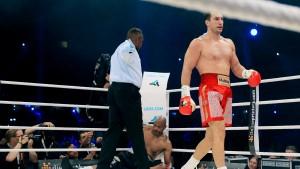 Klitschko schlägt Thompson K.o.