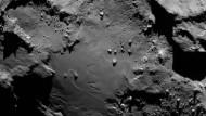 """Nach zehn Jahren erreicht: der Komet 67/P, nach seinen Entdeckern auch """"Tschurjumow-Gerasimenko"""" - kurz einfach """"Tschuri"""" - genannt."""