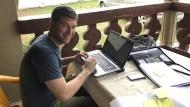 Thomas Hiebaum arbeitete für eine kleine Straßenbaufirma in Liberia