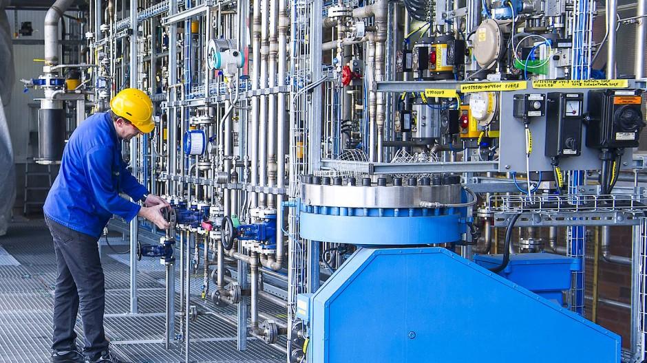 Bau der Testanlage für Methanpyrolyse
