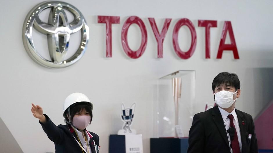 Toyota-Mitarbeiter in Tokio