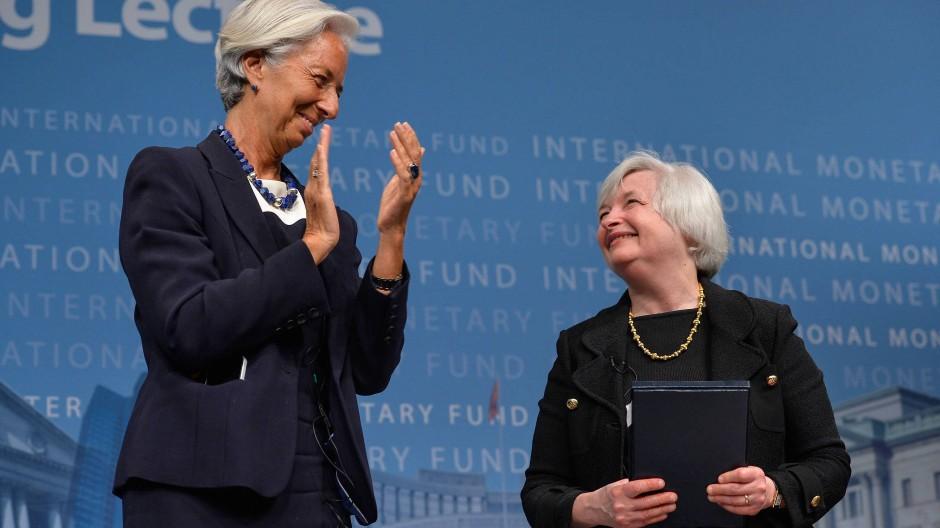 Scheinen sich zu verstehen: EZB-Präsidentin Christine Lagarde und Amerikas Finanzministerin Janet Yellen.