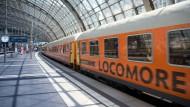 Der Locomore-Zug war nicht lange unterwegs.