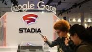 Der Messestand von Google Stadia auf der GDC in San Francisco.