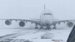 Riesen-Airbus auf Mini-Flughafen umgeleitet
