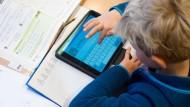 Ein Grundschüler am Tablet - Digitalkunde gehört schon früh auf den Stundenplan, finden Fachleute.