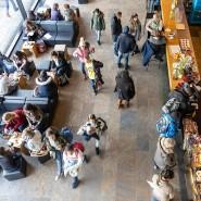 Blick Mensa der Frankfurter Johann Wolfgang Goethe-Universität Campus Westend im Februar 2019
