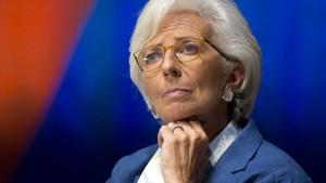 Lagarde fordert die Besteuerung von Klimagasen