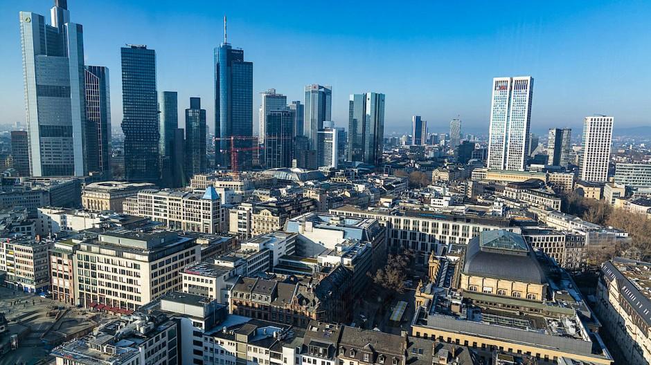 Blick auf die Frankfurter Bankentürme
