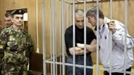 Ein Polizist immer in Hörweite: Chodorkowskij und Lebedjew