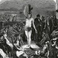 Solomon Eccles (1618-1683), ein Quäker, versucht sich an einem Ritual und Straßengebet, um die Pest von sich fernzuhalten.