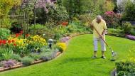 Braucht keine App mehr, um seine Rentenansprüche zu überschauen: Rentner bei der Gartenarbeit.