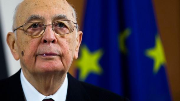 Napolitano als Staatschef Italiens wiedergewählt