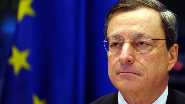 ECB President Draghi addresses a news conference at the European parliament in Brussels
