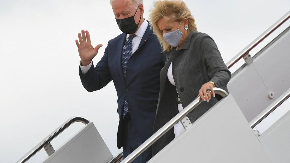 Joe und Jill Biden Anfang Mai in Maryland
