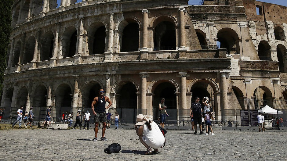 Am Kolosseum in Rom: Langsam kehrt der Tourismus zurück.