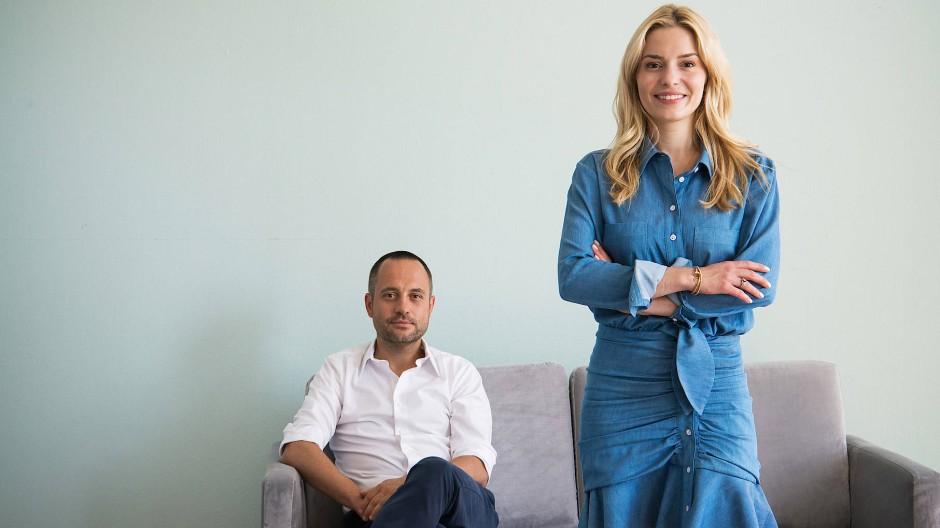 Delia Lachance und Westwing-Mitgründer Stefan Smalla