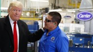 """Trump auf Mission """"Stellenrettung"""" beim Klimaanlagenbauer Carrier."""