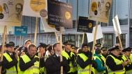 Kundgebung der Lufthansa-Piloten am Mittwoch.