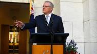 """""""Was immer wir für Maßnahmen ergreifen, sie werden nicht auf zwei Wochen angelegt sein können"""", sagt Australiens Regierungschef Scott Morrison in einer Ansprache"""
