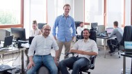 Haben gut Lachen: Die Celonis-Gründer Bastian Nominacher (l.), Alexander Rinke und Martin Klenk