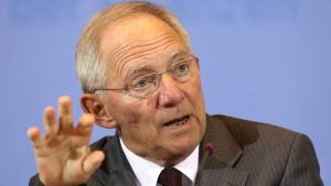 Schäuble verbittet sich amerikanische Belehrungen