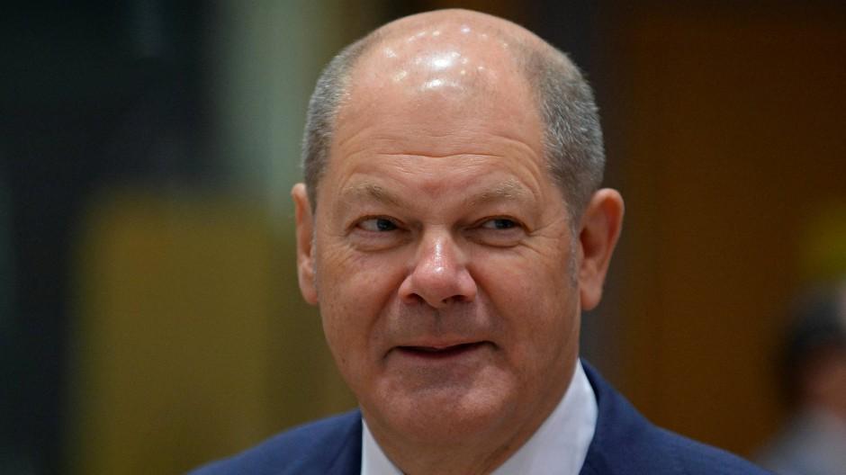 Der Finanzminister Olaf Scholz in Brüssel.