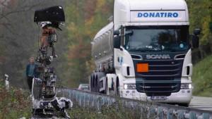 Lastwagen-Protest gegen französische Öko-Maut