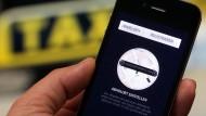 Uber ist ein Konkurrent für die Taxis.