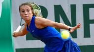 Die Deutsche Annika Beck bei ihrem Sieg über die Ukrainerin Kateryna Bondarenko.