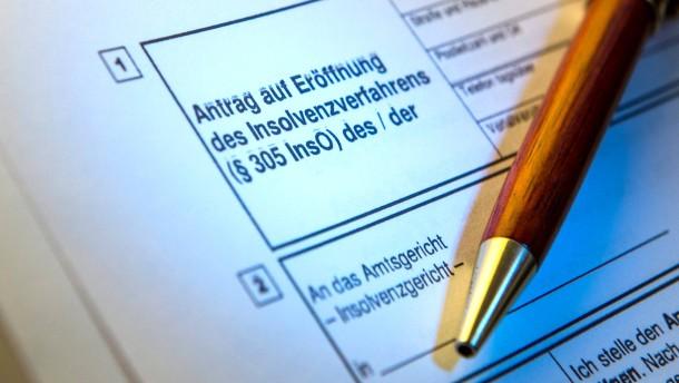 Immer weniger Pleiten in Deutschland