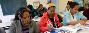 Flüchtlinge im Deutschkurs