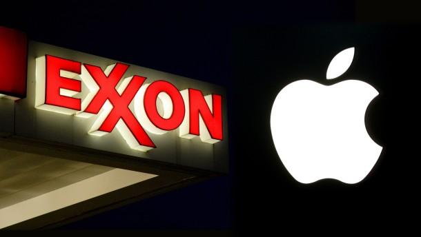 Exxon überholt Apple als wertvollstes Unternehmen der Welt