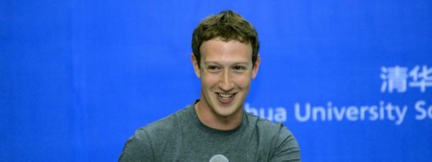Facebook-Chef Mark Zuckerberg bei seinem Auftritt an der Tsinghua-Universität