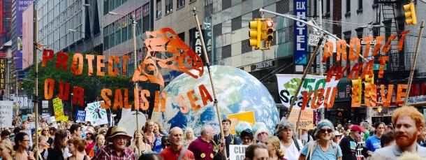 """Zehntausende gingen allein in New York am Wochenende für den """"Klimamarsch"""" auf den Straßen."""