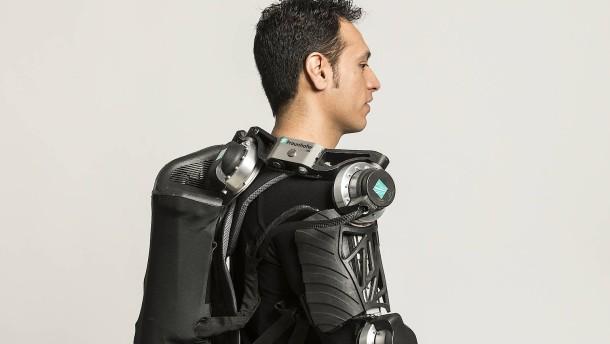 Exoskelette maschine zum anziehen die koerperliche arbeit erleichtern