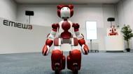 Ein Roboter für den Kundenservice von Hitachi. Nur eines von vielen Beispielen dafür, dass Roboter in der Arbeitswelt präsenter werden.