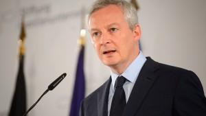 Le Maire fordert schnelle Stärkung Europas